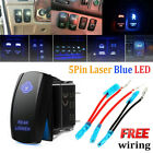 12v 20a Blue Led Car Boat Push Button Rocker Switch 4x4 For Arb Carling Style