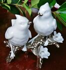Lladró Re-Deco Nature's Duet Love Birds White Porcelain w/Platinum ***Mint**