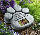 Paw Print Memorial Stepping Stone Dog Cat Pet Picture Frame Garden Grave Marker