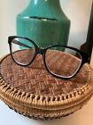 Christian Dior Montaigne 8 Black Crystal Plastic Eyeglasses GlassesFrames