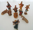 Vintage Miniature Nativity Set Plastic Celluloid 10 Piece Estate Lot 2 4