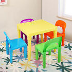 New Kids Table and 4 Chairs Play Set Toddler Child Rainbow Plastic Chair Toy