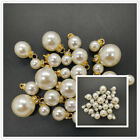 DIY 8 16MM Acrylic Pearl Pendant Beads Charm Earrings Ornaments Jewelry Making
