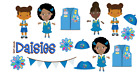 15 Daisy Girl Scout African American variety stickers for planners