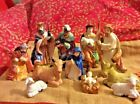 Christmas Nativity Figurines 11 Piece Ceramic Hand Painted New In Box Excellent