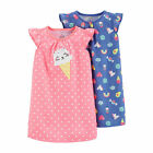 New Carters Toddler Girl Kitty Cat Ice Cream Nightgowns 4 5