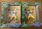 2 1998 Starting Line-Up Bart Starr Gridiron Greats NFL Football Action Figures