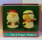 Vintage Hallmark Mr. & Mrs. Claus Salt and Pepper Shakers Christmas Santa
