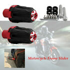 2×Motorcycle Bikes 10MM Frame Engine Anti-falling Protector Crash Slider Cap kit