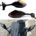 Black Motorcycle Integrated LED Rear View Side Mirrors For Hyosung GT650R GT250R