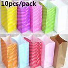 Popcorn Candy Gifts Stand Up Dot Wrapper Bag Packing Pouch Kraft Paper Package