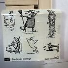Stampin Up SPOOKTACULAR GREETINGS Halloween Rubber Stamp Unmounted