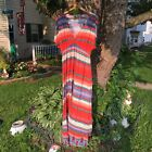 's Size Extra Large Multicolor Striped Maxi Dress