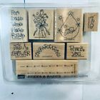 Stampin Up Brides  Babies Wood Mount Rubber Stamps Mounted
