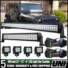 52Inch 700W LED Light Bar DRL Combo+ 22 + 4 For Jeep Wrangler JK YJ TJ CJ
