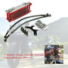 Motorcycle Aluminum Oil Cooler Radiator For 50 70 90 110CC Horizontal Engines