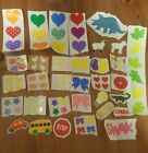 Vintage 80s Stickers Mrs Grossmans Retired Animals Hearts Stars Bows