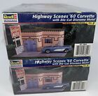 Revell Highway scenes '60 Corvette w/ Motel diorama Model Kit NIP 1999 Lot Of 2!