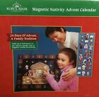 Kurt Adler Christmas Wooden Nativity Advent Calendar 24 Magnetic Pieces Bxd 17L