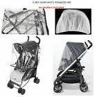 Rain Cover Mosquito Net Set Cover Protector for Zooper Child Kid Baby Strollers