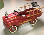 Vintage Gearbox Childs Fire Truck Pedal Car with Hose  Ladders ELNC