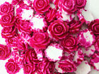 NEW 10pcs Resin Rose Flower flatback Appliques For phone wedding crafts