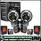 For 07 17 Jeep Wrangler JK LED Headlight +Turn + Fender + Tail Light Lamps 10Pcs