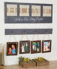 6 PC WHERE OUR STORY BEGINS PICTURE FRAME COLLAGE SIGN SET WALL HANGING