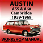 AUSTIN A55 & A60 Cambridge 1959-1969 Workshop Manual
