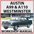 AUSTIN A99 & A110 Westminster 1959-1968 Workshop Manual