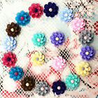 20pcs Resin Rose Flower flatback Appliques For phone wedding crafts QH11