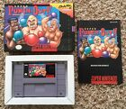 SNES Super Punch Out Complete in Box CIB Authentic Tested Cleaned