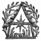 Nativity Scene with Branches Metal Wall Art 11 x 11 Croix des Bouquets