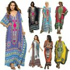 Casual Women Kaftan Boho Cotton Long Maxi Dress Loose Beach Holiday Plus Size US
