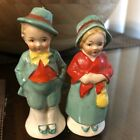 Vintage Salt  Pepper Shakers Old Irish Couple Made In Germany