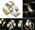 Stainless Steel  Real Love  Heart Couples Promise Engagement Ring Wedding Band