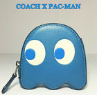 COACH Pacman Coin Purse Case Inky Blue Leather Ltd Bag or Backpack Accessory NWT