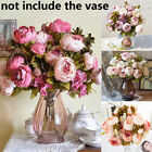 Blooming Silk Fake Peony Artificial Flowers Bridal Bouquet Wedding Decoration