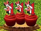 Minnie Mouse Red Cupcake Topper 12pcs