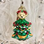 Radko MUFFY 2000 LITTLE FIR TREE VanderBear Glass Christmas Ornament 01-NAB-08