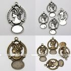 10x Tibetan Silver Goddess Girl Photo Picture Frame Charms Pendant Findings DIY
