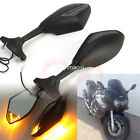 Motorcycle Led Turn Signal Mirrors For Suzuki GS500F GSXR1000 Hayabusa SV650S
