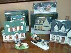 Heartland Valley Village Hand Painted  Porcelain Lighted 2 HOUSES/ ACC LK LEMAX