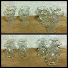 VTG 9 Pc Ice Cream Parlor Sundae Dish Clear Scalloped GlassParfait Tulip Foot 4