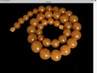 Art Deco Baltic Amber Necklace Vintage Butterscotch Honey Amber Necklace 377gm