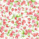 Sweet Pea Flannel Pink Maywood Studios Floral BY the Yard BFab