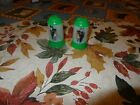 vintage plastic salt and pepper shakers with pictures used