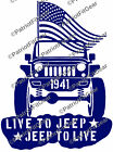 Live To Jeep Jeep To LiveJeeperJeep LifeJeepingWrangler Nationvinyl decal