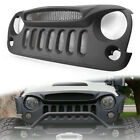 Car Front Ghost Grille Matte Black for Jeep wrangler JK 07 17 w Insect Mesh Net