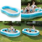 Sable Inflatable Pool Swimming Family Size Kiddie Blow Up 103 x 63 x 18
